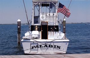 "Photo of the boat ""Paladin,"" owned by Henry Lapham, founder of Paladin Moving Company, originally a Bronx moving company."